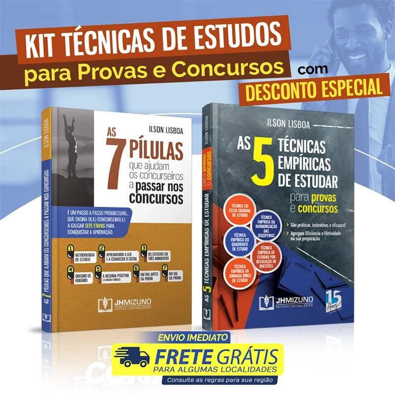 Kit Técnicas de Estudos para Provas e Concursos